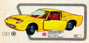 Matchbox Lamborghini Miura Illustration 1969