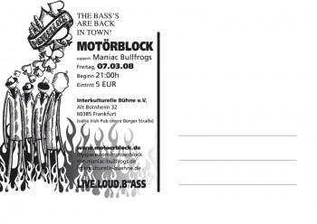 Motörblock Postkarte/Flyer