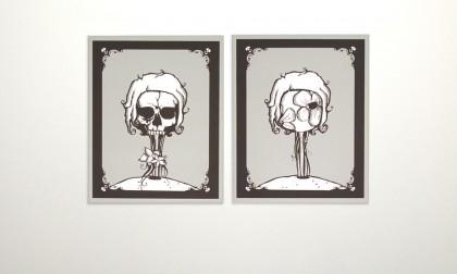 Dead Flower - Digital Ink On Canvas, 2008. 2x 70x50cm (c) janesnation.com