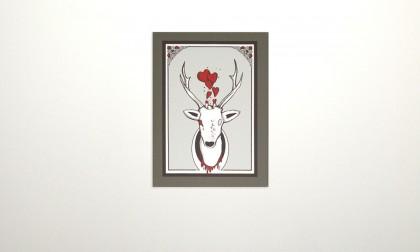Deer - Digital Ink On Canvas, 2008. 70x50cm (c) janesnation.com