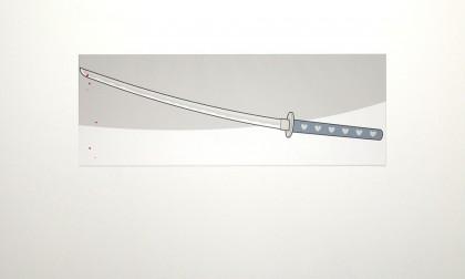 Katana - Digital Ink On Canvas, 2008. 40x110cm (c) wondertom.de
