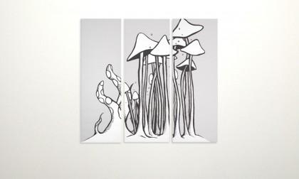 Triptychon - Digital Ink On Canvas, 2008. 3x 100x40cm (c) janesnation.com
