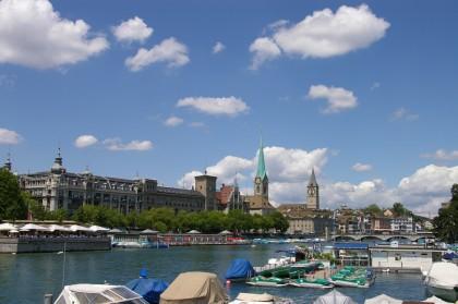 Zürich, mal ohne Berg und mit nur einem bisschen See dabei