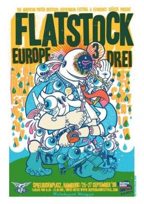Flatstock Europe 3 Poster by Drew Millard