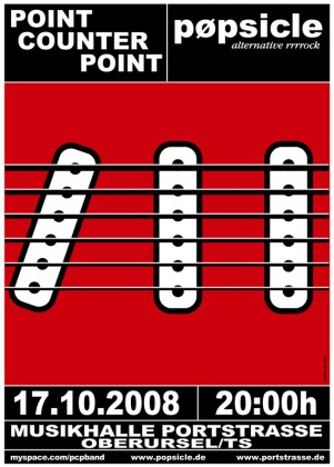 Plakat pøpsicle / Poin Counter Point - Musikhalle Portstraße Oberursel