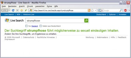 MSN-Suche Screenshot