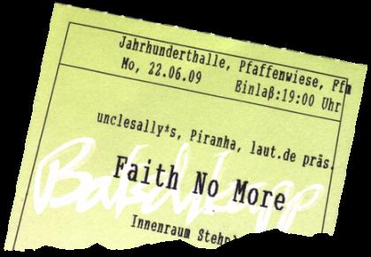 Faith No More, Frankfurt