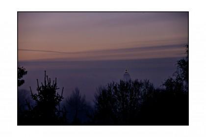 Messeturm im Nebel, 2009