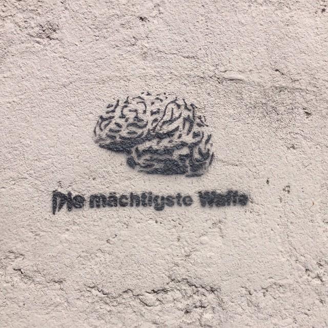 The mightiest weapon #streetart #stencil