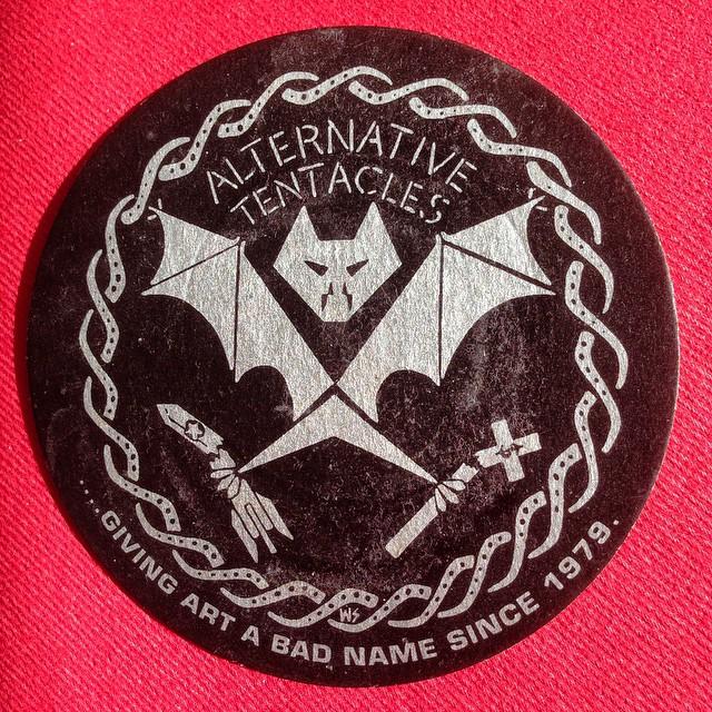 """Giving art a bad name since 1979."" #coaster #alternativetentacles"