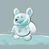 Eisbär in niedlich