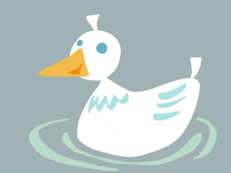 Comic Illustration einer Ente (oder einer Gans) - Tom Arnold