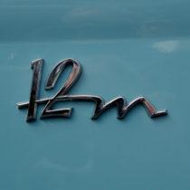 """12m"" - Chrom auf Hellblau"