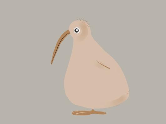 Der Vogel, nicht die Frucht