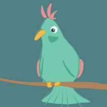 Komischer Vogel, gezeichnet mit der paper App auf dem iPad