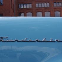 """Thunderbird"" Chrom auf Hellblau"