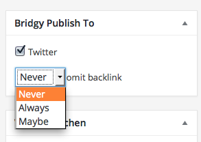 Now includes options for the inclusion of backlinks