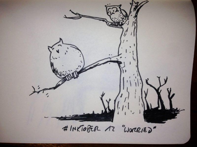 Inktober #12 - Worried