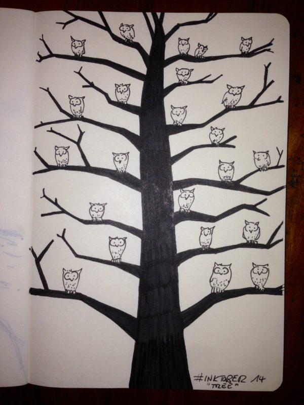 Inktober #14 - Tree
