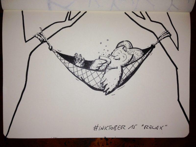 Inktober #15 - Relax
