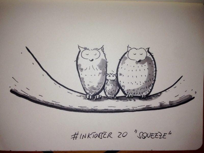 Inktober #20 - Squeeze