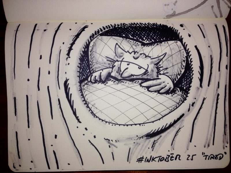 Inktober #25 - Tired