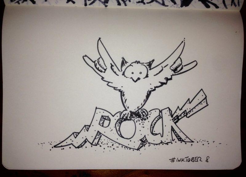 Inktober #8 - Rock