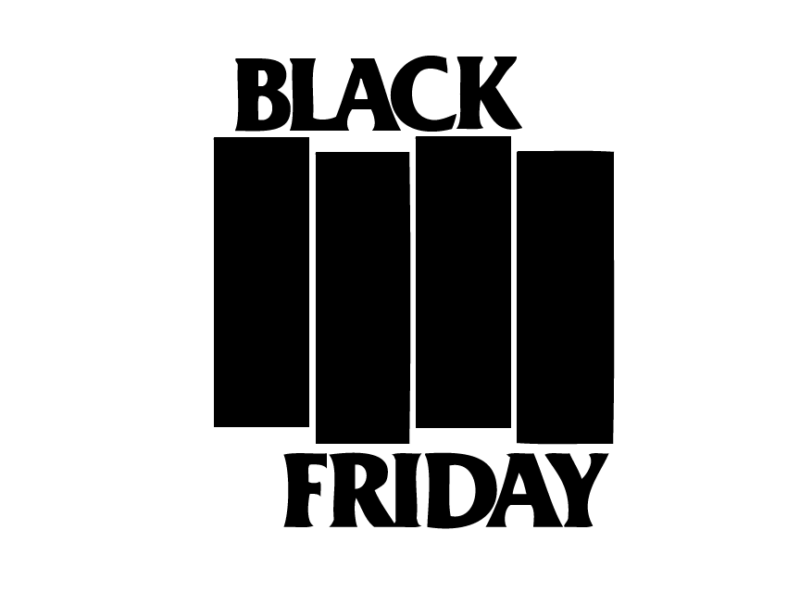 Black Friday Logo im Black Flag Bandlogo Stil, by yours truly