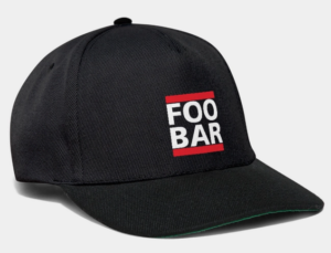 FOO/BAR Spreadshirt Cap
