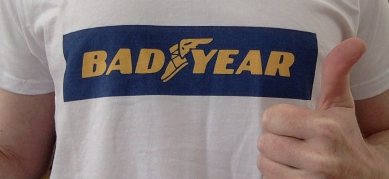 Bad Year (Good Year Logo parody) T-Shirt