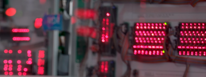 Screencapture of the video, a bunch of out of focus LEDs from a server rack